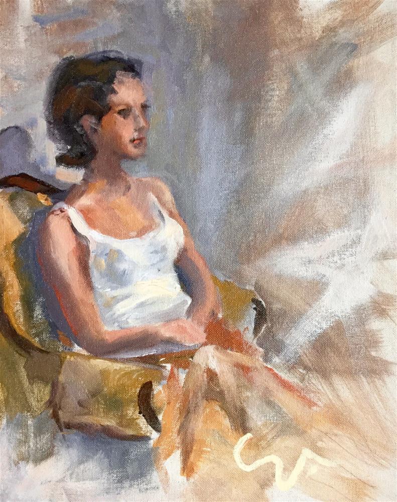 """Live Model"" original fine art by Sharon Abbott-Furze"
