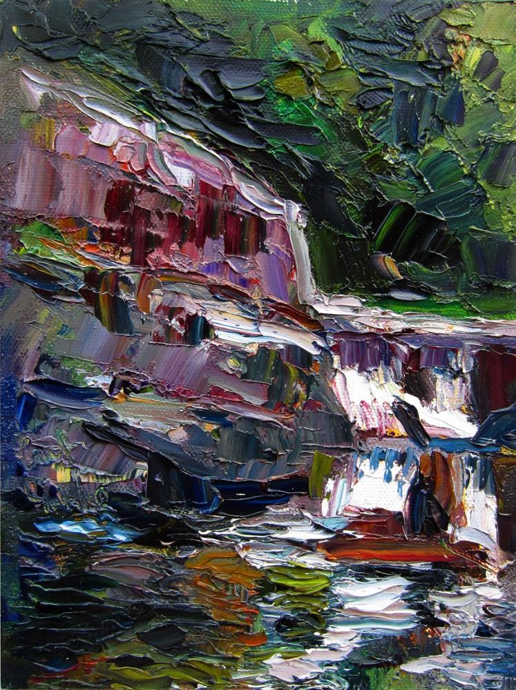 """Linville Falls"" original fine art by Carol Steinberg"