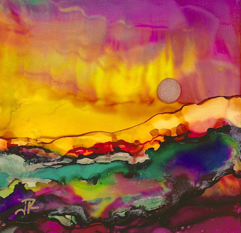 """Dreamscape No. 387"" original fine art by June Rollins"