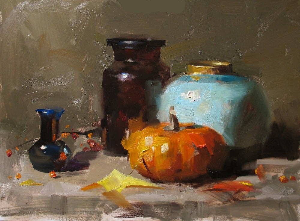 """Demo at Wethersfield 2012 1"" original fine art by Qiang Huang"