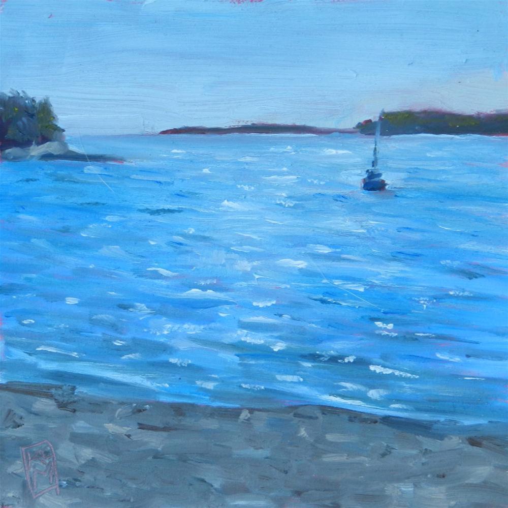 """Fogland Beach,"" original fine art by Kelley MacDonald"