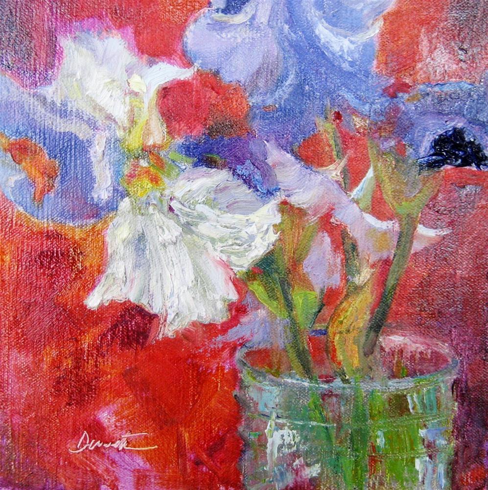"""Impasto Irises"" original fine art by Scarlet Owl Studio"