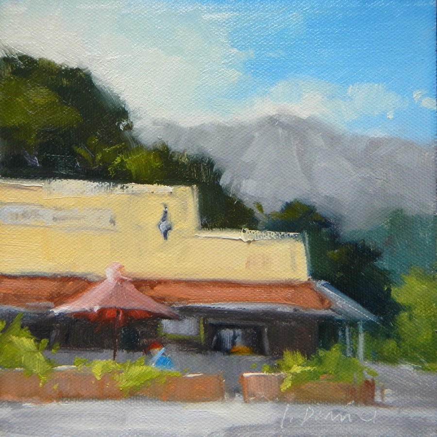 """Waiahole Poi Factory - Hawaii"" original fine art by Laurel Daniel"