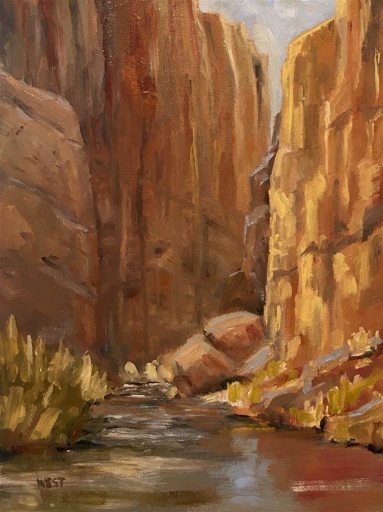 """Colorado River Sidewater"" original fine art by James West"