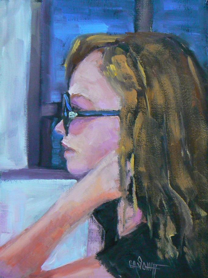 """""""MY JACKIE O'S, OIL, 8X6"""" original fine art by Carol Schiff"""