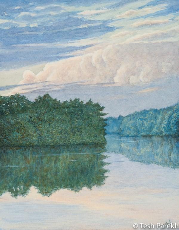 """Carolina Summer Sky"" original fine art by Tesh Parekh"