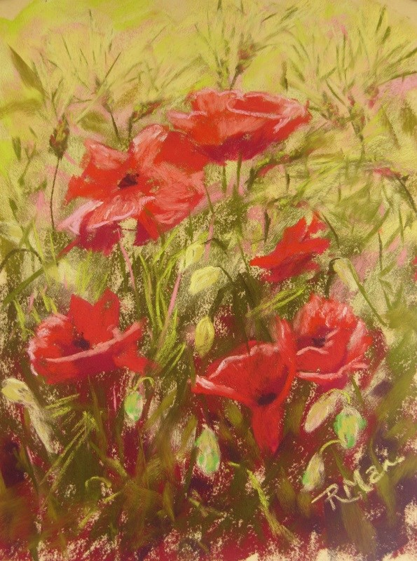 """In the Field"" original fine art by Ruth Mann"