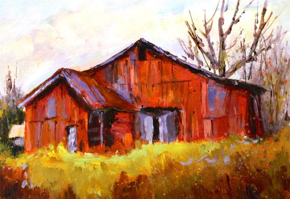 """The Red Gem on Halfway Road"" original fine art by Alice Harpel"