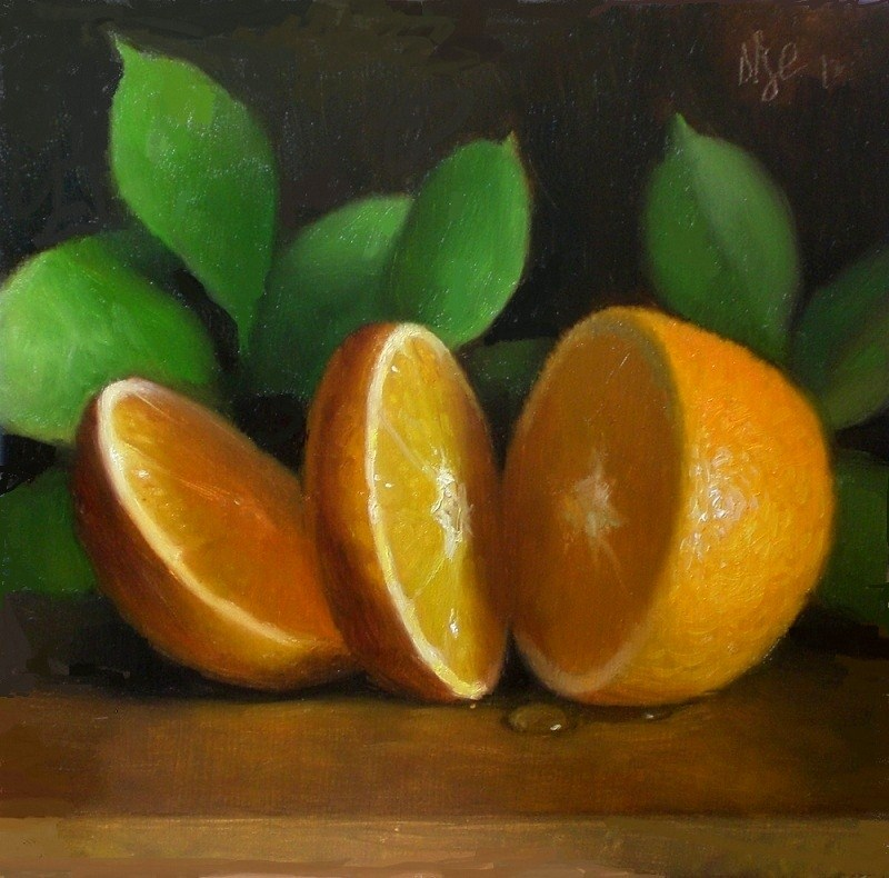 """Sliced Orange"" original fine art by Debra Becks Cooper"