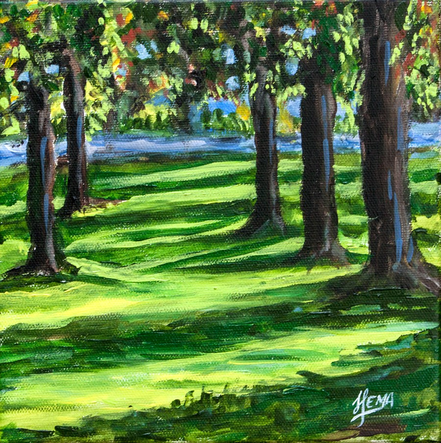 """Spring Valley meadows"" original fine art by Hema Sukumar"