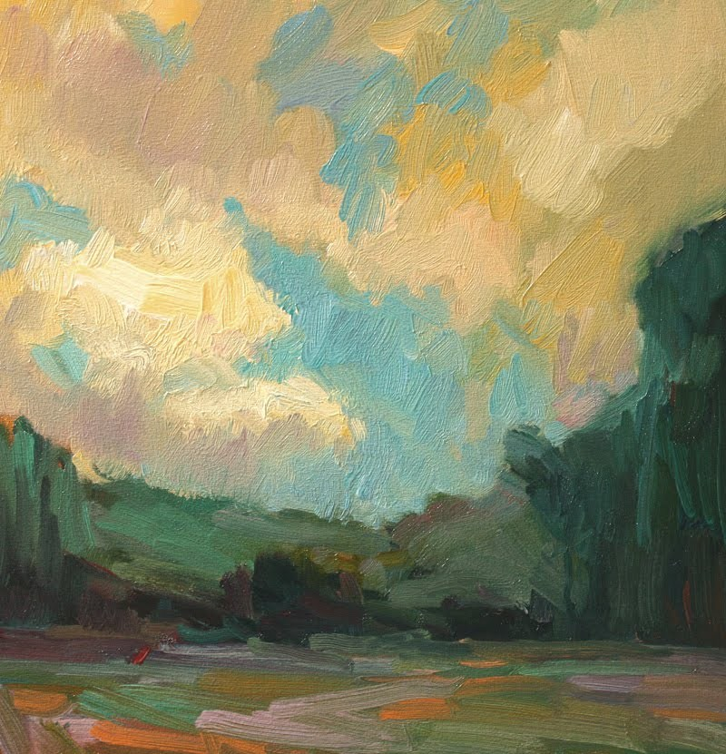 Touchet Valley Clouds original fine art by Kathryn Townsend