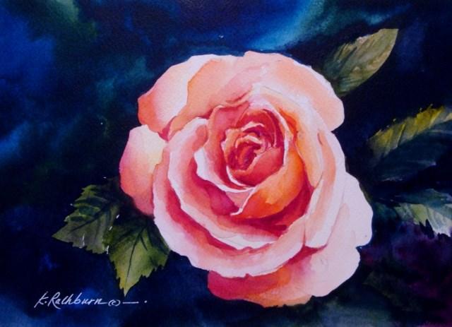 """A Rose for a Friend"" original fine art by Kathy Los-Rathburn"
