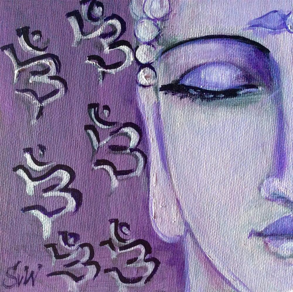 """""""Aum Buddha Painting"""" original fine art by Sonia von Walter"""