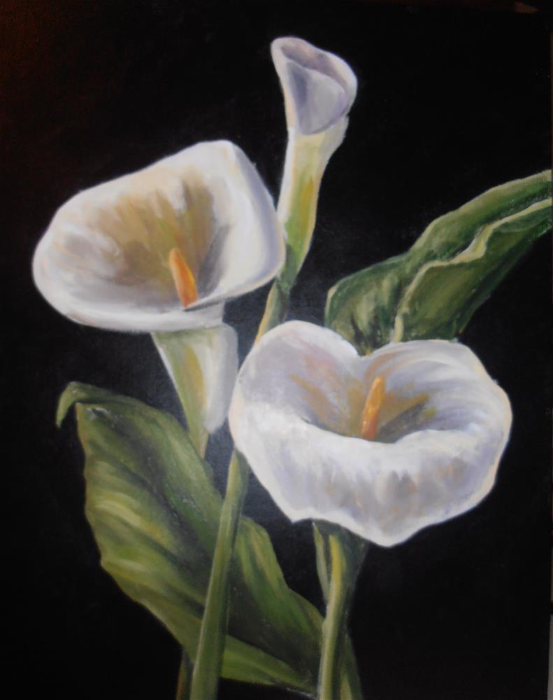 """Calla Lilies"" original fine art by Terri Nicholson"