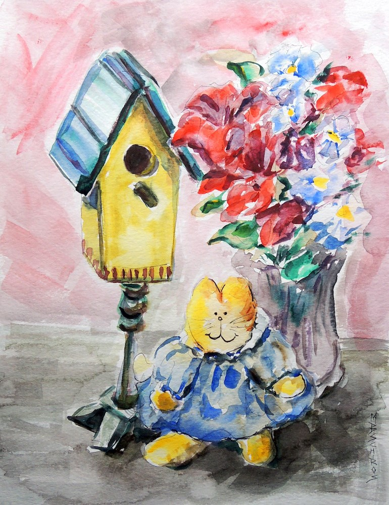 """House Setting"" original fine art by Mary Schiros"