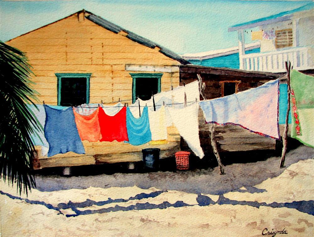 """Belize Laundry"" original fine art by Crisynda Buss"