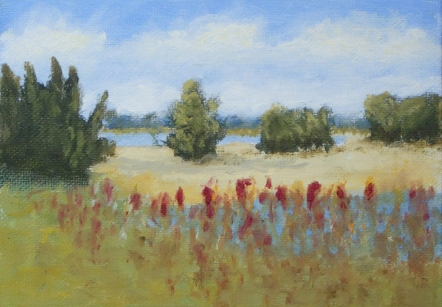 """peaceful place"" original fine art by karen richardson"