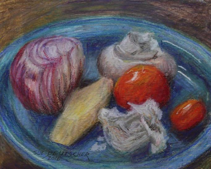 """vegetables"" original fine art by Sue Deutscher"