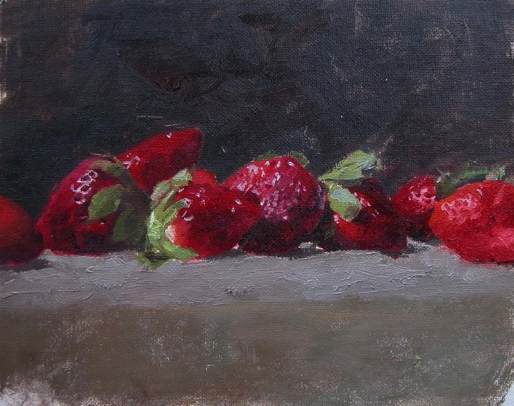 """Strawberries"" original fine art by Richard Jones"