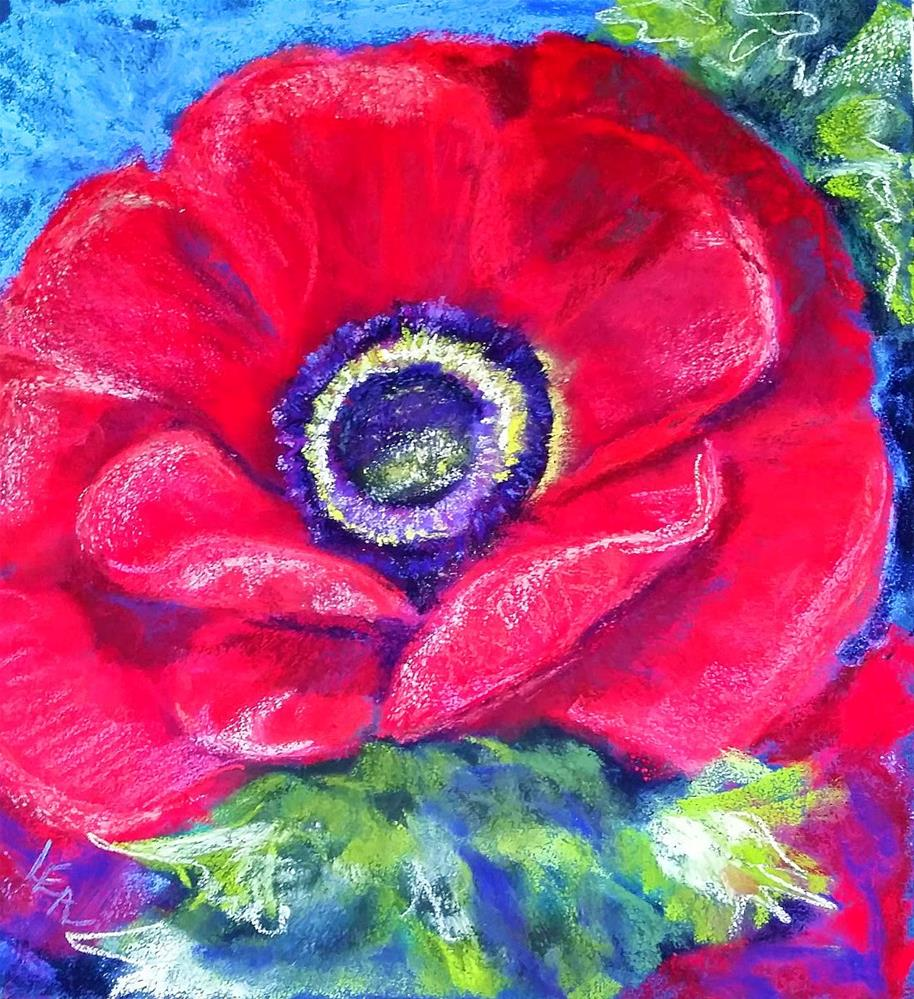 """Poppy Pulchritude"" original fine art by Anna Lisa Leal"