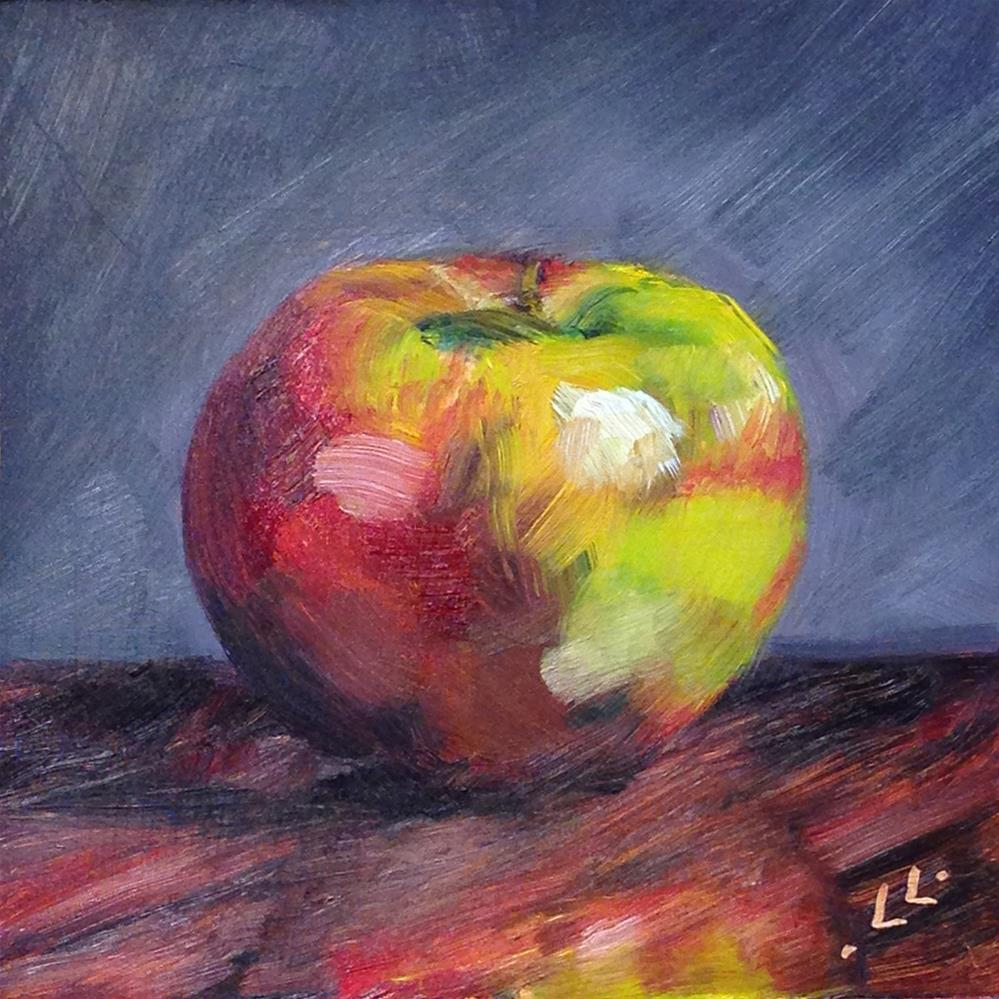 """My Apple"" original fine art by Linda Lowery"