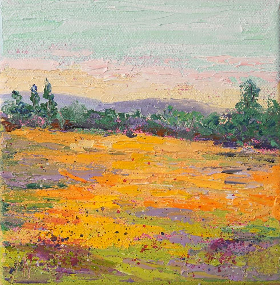 """Summer Meadow 1"" original fine art by Marion Hedger"