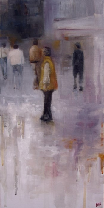 """Leaving the Crowd"" original fine art by ~ces~ Christine E. S. Code"