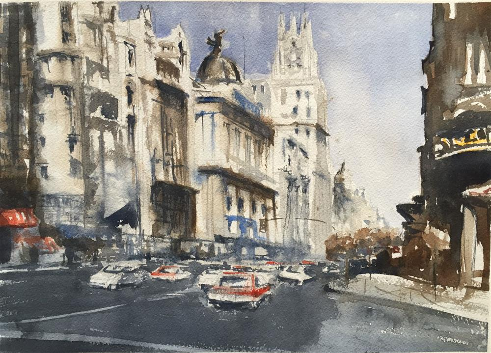 """GAN VIA -MADRID-"" original fine art by Ferran Llagostera"
