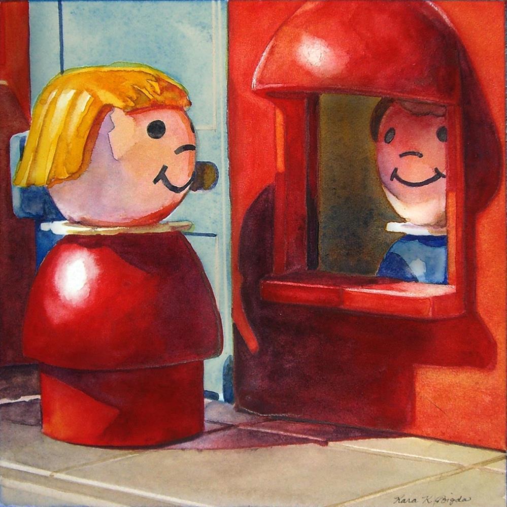 """Chatting At Work"" original fine art by Kara K. Bigda"