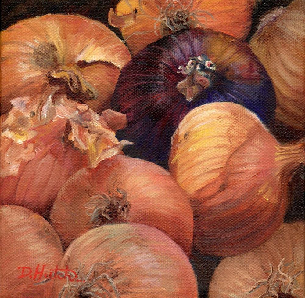 """Onions"" original fine art by Diane Hutchinson"