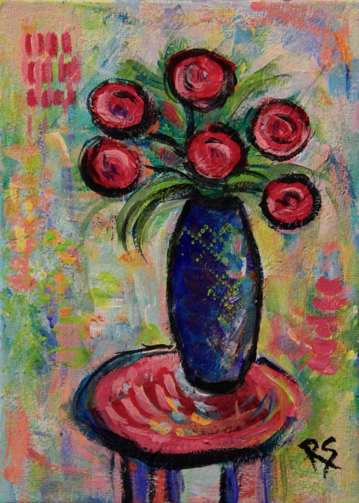 """Summer Flowers #6"" original fine art by Roberta Schmidt"
