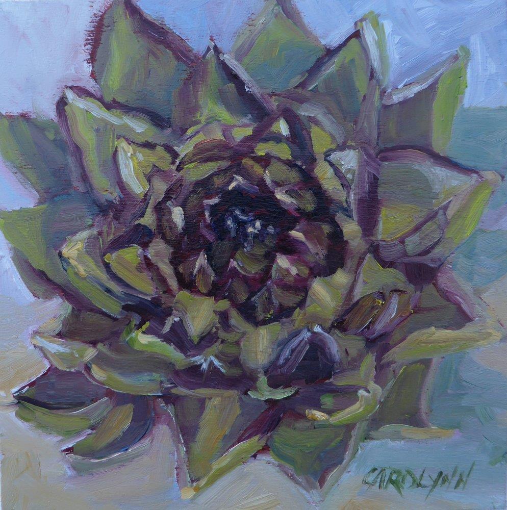 """Exploring the Artichoke"" original fine art by Carolynn Doan"