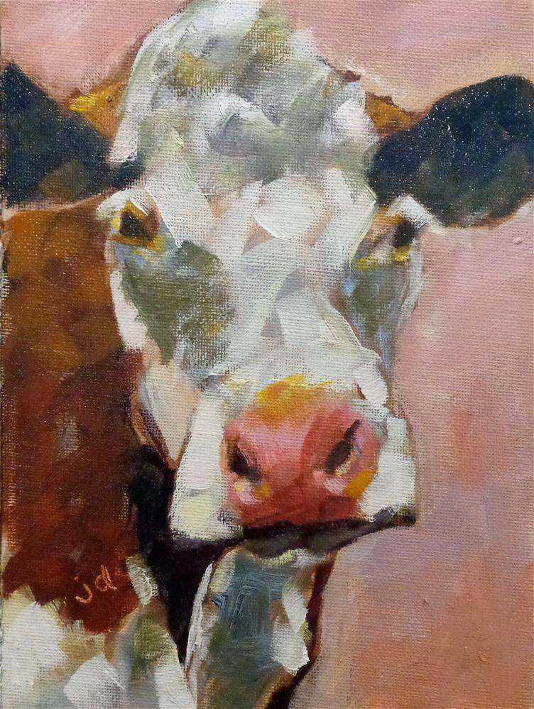"""Cow 11"" original fine art by Jean Delaney"