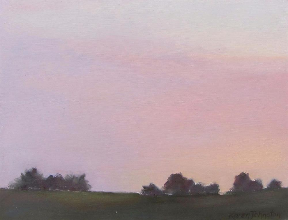 """Early Evening Sky"" original fine art by Karen Johnston"