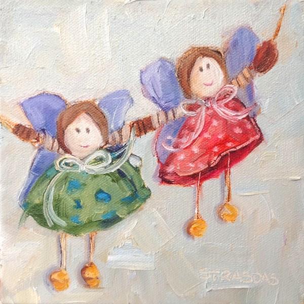 """""""BFFs"""" original fine art by Marcela Strasdas"""
