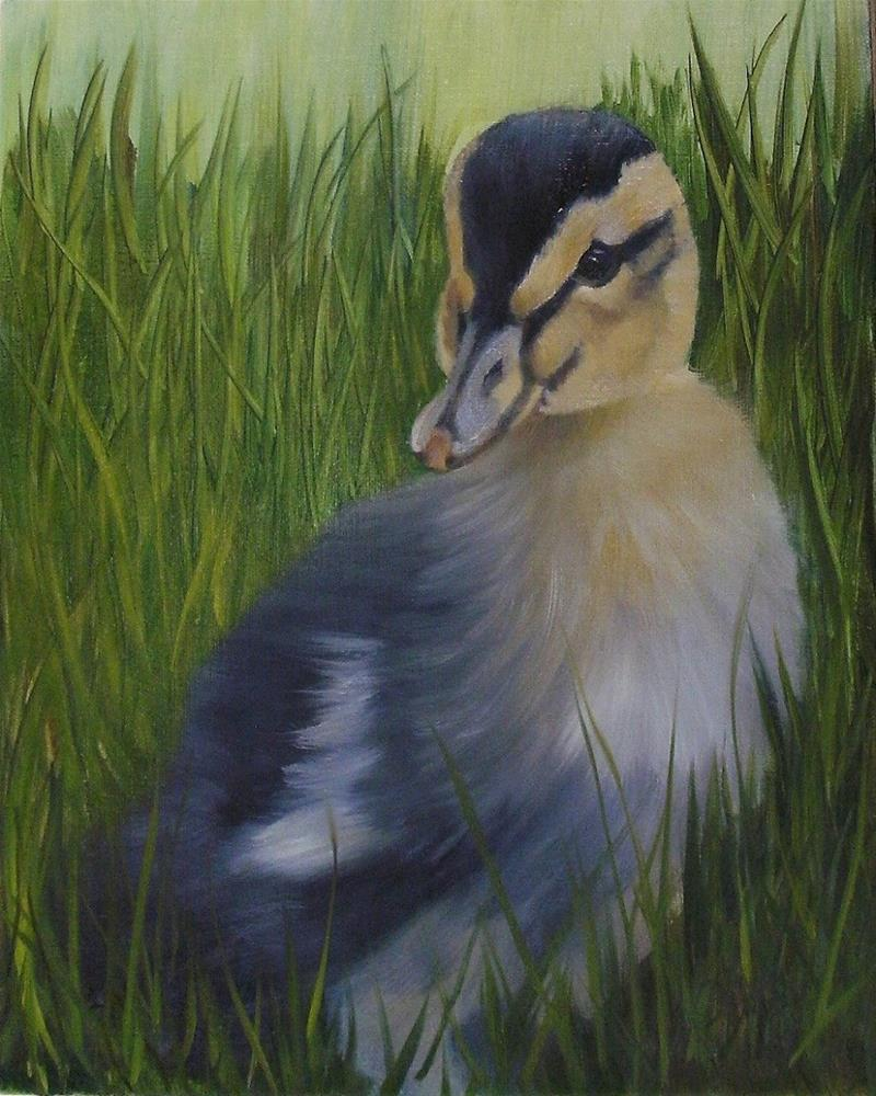 """A Duckling for Easter"" original fine art by Lynn Darby"