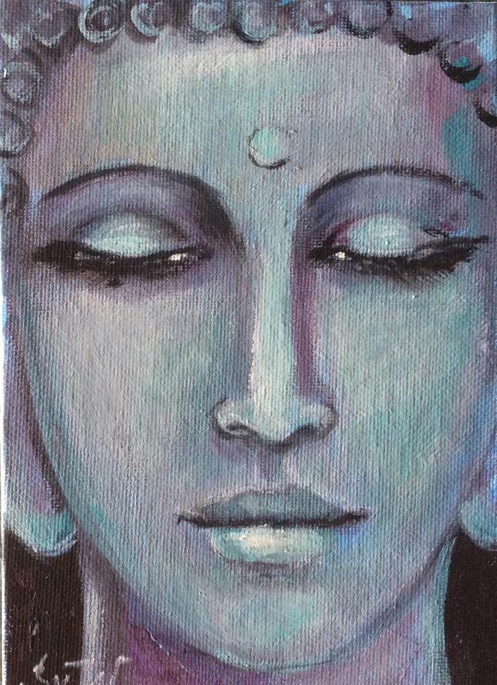 """Buddha number 5 painting"" original fine art by Sonia von Walter"