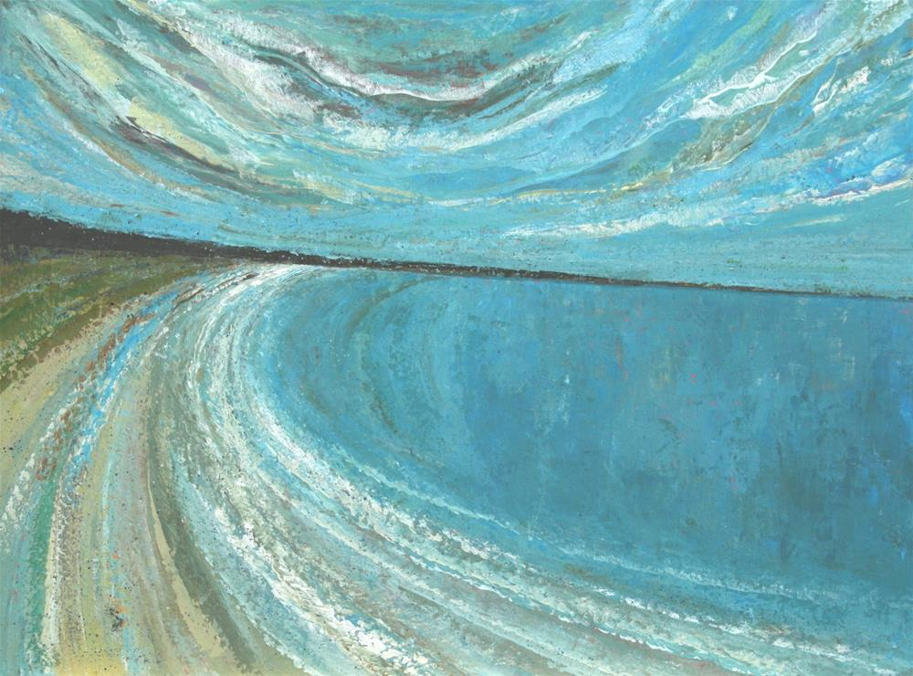 """Beach and Blue"" original fine art by Sage Mountain"