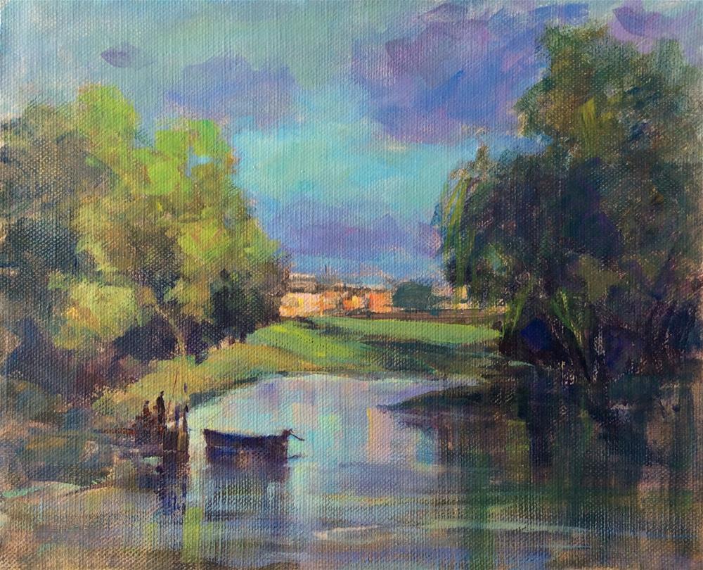 """""""Near the Village of Uglich..Russia."""" original fine art by John Shave"""