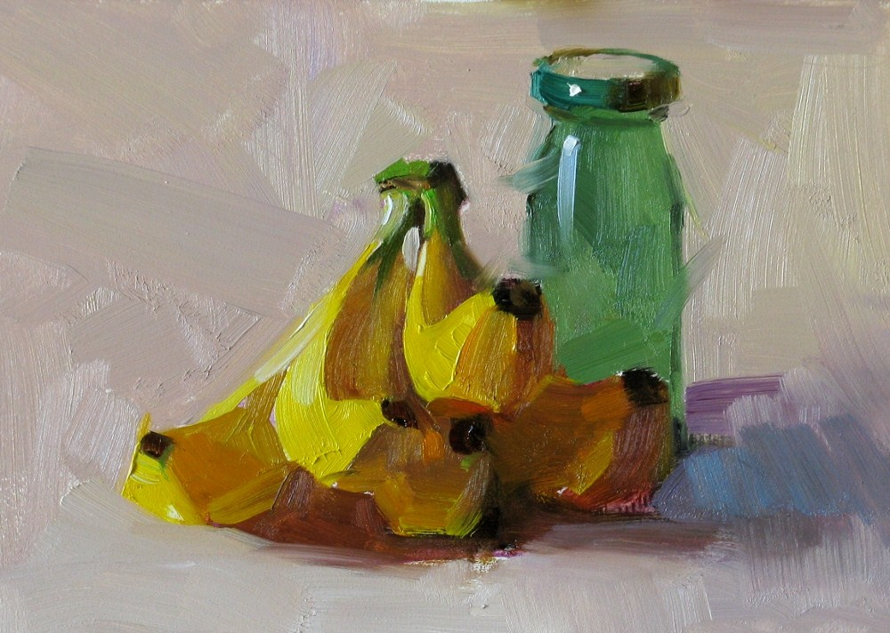 """Bananas"" original fine art by Qiang Huang"