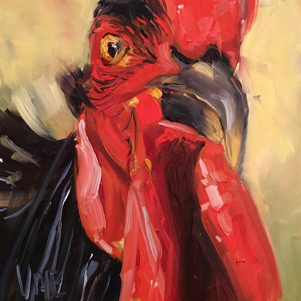 """""""#439 Year of the Rooster"""" original fine art by Patty Voje"""