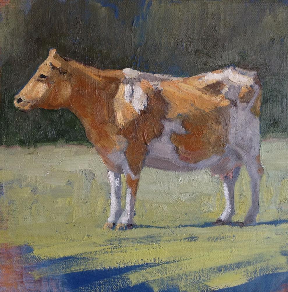 """Dairy Cow in West Marin"" original fine art by Deborah Newman"