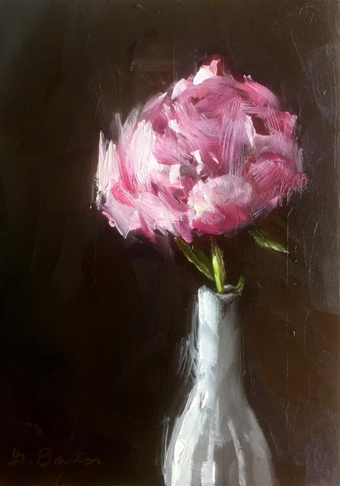 """Early Morning Peony"" original fine art by Gary Bruton"
