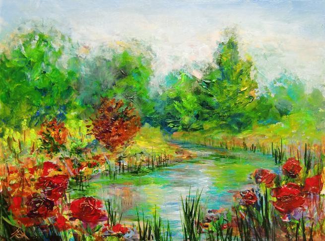 """3128 - Rubies and Emeralds"" original fine art by Sea Dean"