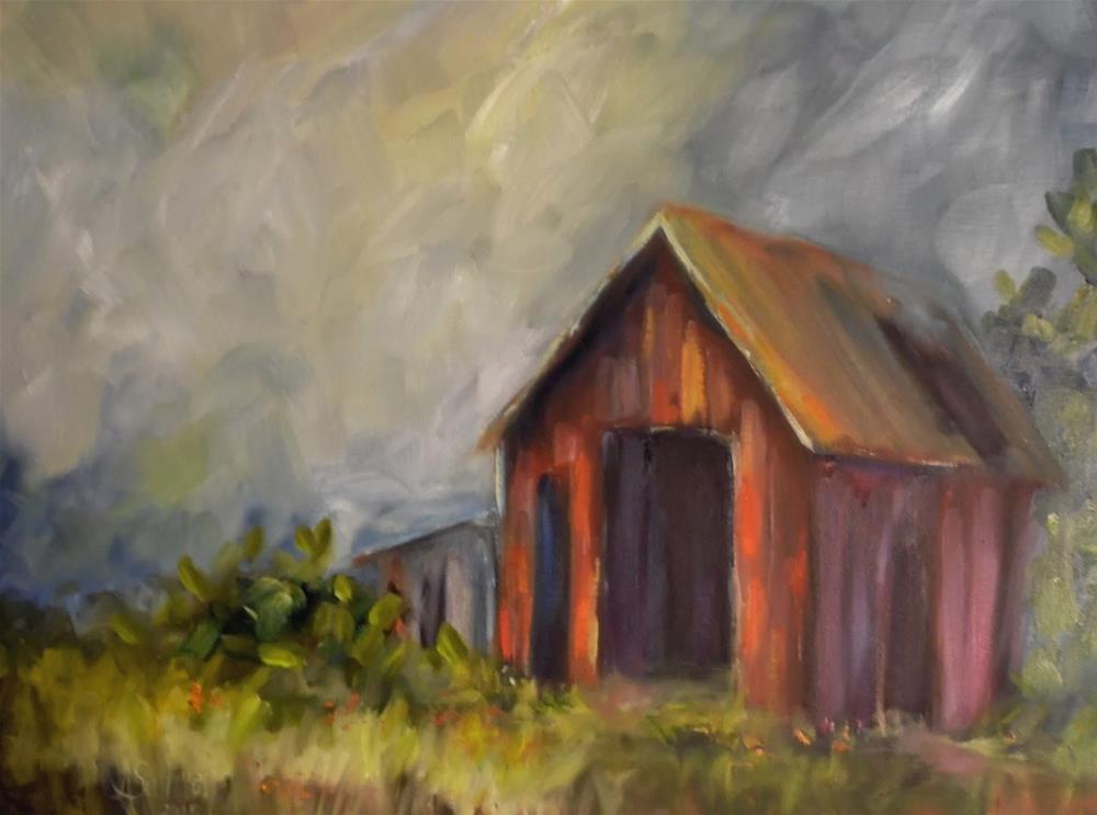 """""""Around About Daybreak landscape painting by Alabama Artist Angela Sullivan"""" original fine art by Angela Sullivan"""