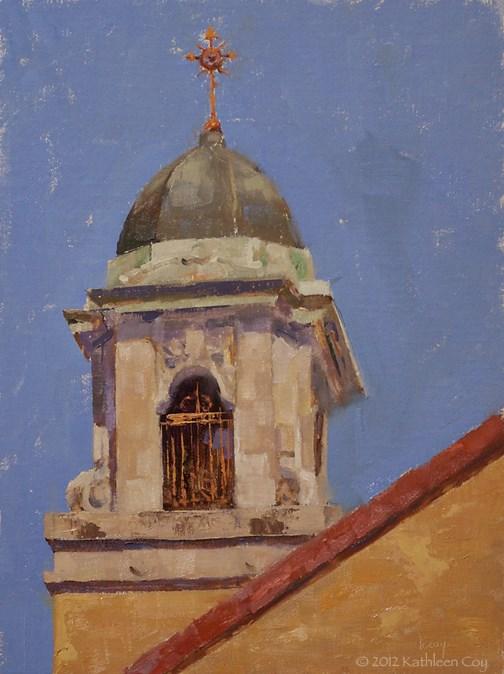 """Bell Tower"" original fine art by Kathleen Coy"