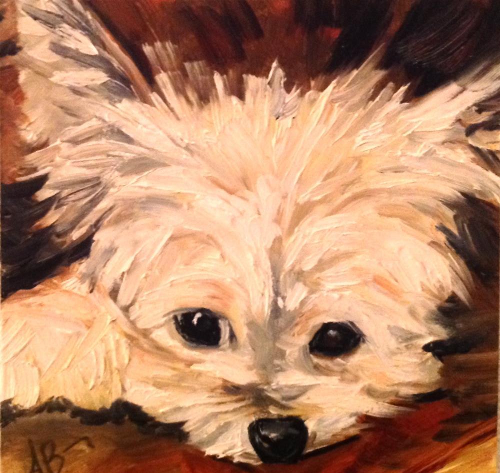 """Worried"" original fine art by Annette Balesteri"