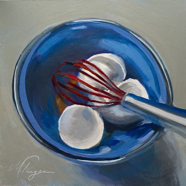 """Can't Beat The Chrome"" original fine art by Mary Pargas"