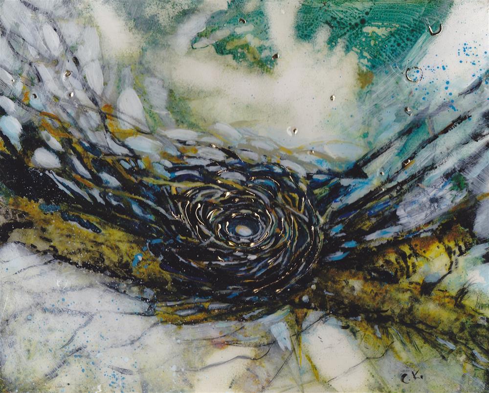 """""""Golden Nest II"""" original fine art by Christiane Kingsley"""