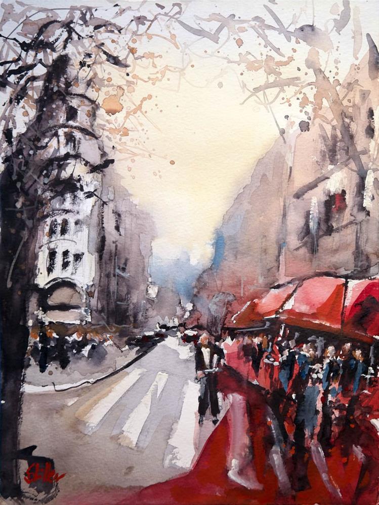 """""""1649 Boulevard Raspail"""" original fine art by Dietmar Stiller"""
